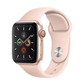 Đồng Hồ Thông Minh Apple Watch SE LTE GPS + Cellular Aluminum Case With Sport Band (Viền Nhôm & Dây Cao Su) - Hàng Chính Hãng VN/A