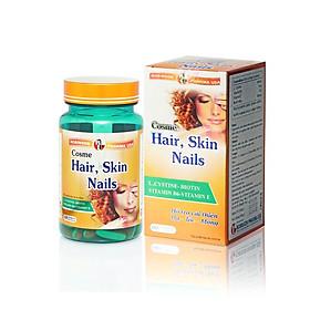 Viên uống TPCN COSME HAIR SKIN NAILS kích thích mọc tóc nhanh,làm dày tóc,ngăn ngừa rụng tóc, giúp cho chân tóc chắc khoẻ - Chai 60 viên