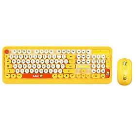 Combo Bàn Phím và Chuột Không Dây Siêu Dễ Thương PSPY K68 Yellow (Màu Vàng) - Hàng Chính Hãng