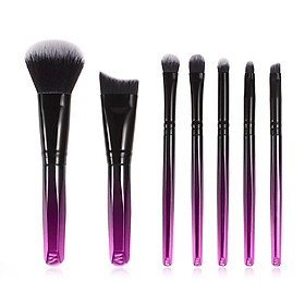 Anself 7pcs Makeup Brushes Assorted Brushes Kit for Applying Loose Powder Foundation Liquid Cream Eyeshadow Eyebrow Cosmetics
