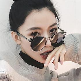 Kính Mát Nữ Thời Trang Hàn Quốc K38 Cao Cấp Màu Ghi Trong Suốt Ôm Sát Khuôn Mặt + TẶNG QUÀ MAY MẮN TÀI LỘC