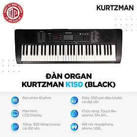 Đàn Organ Kzm Kurtzman K150 - Màu đen - Hàng chính hãng