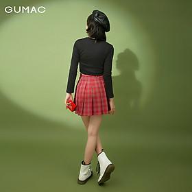 Chân váy nữ xếp ly GUMAC VB1128