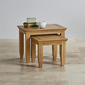 Bộ bàn xếp chồng Juno Sofa gỗ sồi