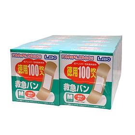 Bộ 2 hộp băng keo cá nhân tiện lợi chống nhiễm trùng ( 100 miếng ) - Hàng nội địa Nhật