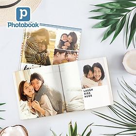 """Voucher quà tặng in album ảnh bìa mềm vuông cỡ nhỏ 8"""" x 8"""" (20 x 20cm) theo yêu cầu - Tự thiết kế trên website Photobook"""