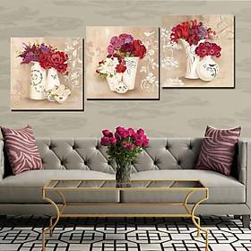 Tranh Canvas treo tường nghệ thuật | Bộ 3 bức vuông| HLB_005