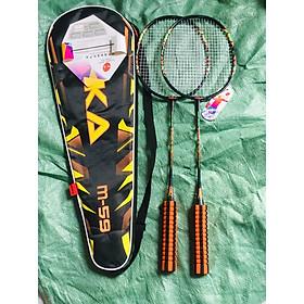 vợt cầu lông M59 màu đen cam có tay cầm bằng mút siêu êm