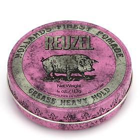 Sáp Reuzel Pomade Grease Heavy Hold (Pink Pomade) - Chính hãng