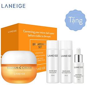 Kem dưỡng trắng da làm mờ đốm nâu Laneige Radian - C Cream 30ml + Tặng Bộ dưỡng trắng da Laneige White Dew 3 món