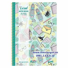 Vở kẻ ngang lò xo Lead - 120 trang; Klong 571 bìa xanh