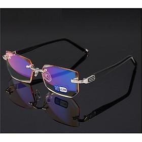 Kính lão thị viễn thị sẵn độ chống ánh sáng xanh gọng khoan cực sang kvt12cp3