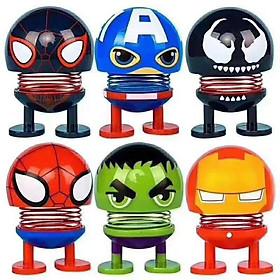 Hình đại diện sản phẩm Set 6 thú nhún Emoji lò xo siêu anh hùng