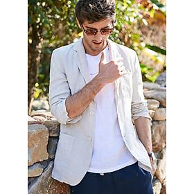 Áo vest Blazer Linen nam dáng lửng LAHstore, thời trang phong cách trẻ trung