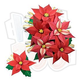 Mô hình giấy cây cảnh Hoa Trạng Nguyên (Poinsettia)