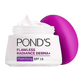 Bộ Đôi Kem Dưỡng Trắng Da Cao Cấp Ngày & Đêm Pond's Flawless Radiance Derma+ (50g/hũ)