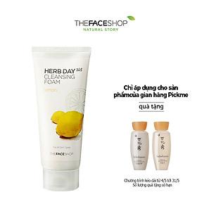 Sữa Rửa Mặt Làm Sáng Da The Face Shop Daily Herbal Lemon Foam Cleanser 170ml