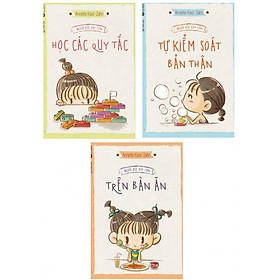 Combo 3 cuốn sách dành cho cha mẹ để nuôi dậy con đúng cách: Người Đức Dạy Con Học Các Quy Tắc + Trên Bàn Ăn + Tự Kiểm Soát Bản Thân ( Tặng kèm bookmark Happy Life)