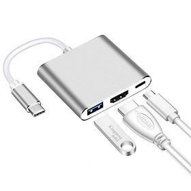 Cáp Chuyển Đổi Type-C Sang USB 3.0 HDMI Adapter Cao Cấp AZONE