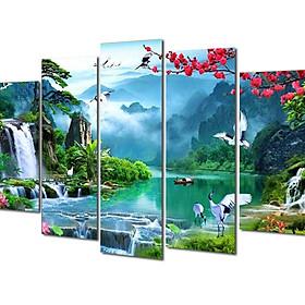 Hình đại diện sản phẩm Tranh treo Tường Thác nước sơn thủy ST906043- Tranh gỗ treo tường