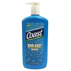 Sữa Tắm Gội COAST HAIR AND BODY WASH Cho Nam 946ml USA