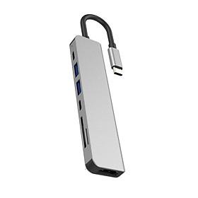Cáp chuyển Thunderbolt 3 ra 7 cổng HDMI/ USB/ PD/ Thẻ nhớ TF, SD cho Macbook - TTH70558