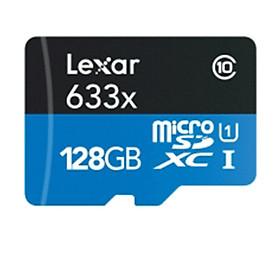 Thẻ nhớ MicroSDXC Lexar 128GB 633x 95MB/s kèm Adapter - Hàng Chính Hãng