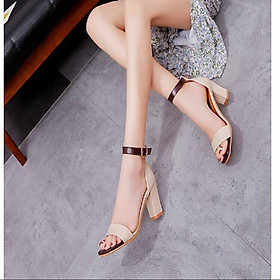 Sandal/ Giày Cao Gót Nữ Đẹp Bít Gót Đế Vuông Cao Cấp Cao 7 cm Phong Cách Hàn Quốc Mới CGPN-YN