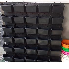 1m2 Vườn tường HOLO - Khung chậu nhựa trồng cây trồng rau trồng hoa trên tường - Nhiều màu (10 khung + 30 chậu)
