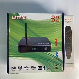 Android Tivi Box NETBOX B2 Ram 1Gb Rom 8Gb 4K UltraHD TẶNG KÈM ĐIỀU KHIỂN GIỌNG NÓI VÀ BAY NETBOX B2 - Hàng Chính Hãng