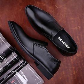 Giày Lười Nam Công Sở Mẫu Mới - DYSEVEN - Chất Liệu Da Bò Cao Cấp Mềm, Bóng , Không Nhăn