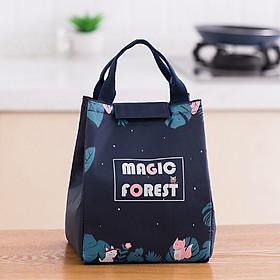 Túi đựng cơm Magic Forest giữ nhiệt vải Oxford (size 18x15x24cm)