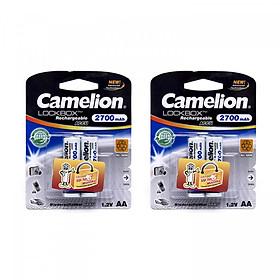 Bộ 4 Pin sạc AA Camelion Rechargeable 2700mAh - Hàng nhập khẩu