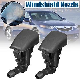 Pair Windshield Washer Nozzle Spray Black For Chevy Malibu Honda Acura 07-12 New