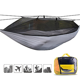 Camping Hammock with Mosquito Mesh Net Lightweight Portable Hammock for Backpacking Camping Traveling Backyard