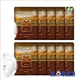 Combo 10 Túi Mặt nạ giấy - Mặt nạ dưỡng da tinh chất nhau thai cừu 3W Clinic Hàn Quốc 23mlx10