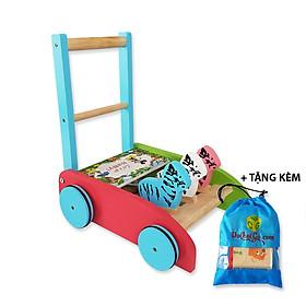 Xe gỗ tập đi tặng kèm túi vải - cho bé yêu những bước đi vững chắc đầu đời