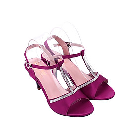 Giày Sandal Nữ Cao Gót Huy Hoàng HT7055 - Hồng Tím