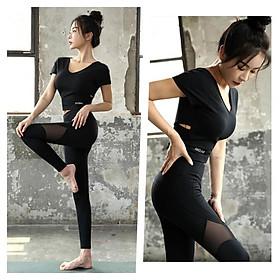 [Đẹp Sang] Bộ Quần Áo Tập Gym Yoga Nữ Cao Cấp Phong Cách Hàn Quốc - LUX05