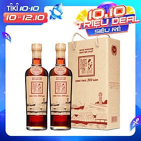 Cặp 2 chai nước mắm Tĩn cá cơm than nhãn đỏ 40N (500ml/chai)