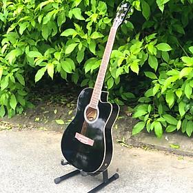 Đàn Guitar Acoustic cao cấp lắp EQ màu đen