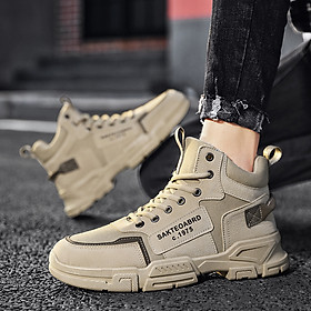 Giày Nam  Giày Sneaker Thể Thao Nam Cổ Cao Phong Cách Hàn Quốc H66