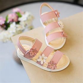 Dép sandal bông hoa ba quai cho bé gái phong cách Hàn Quốc