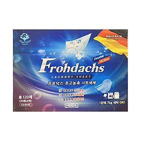 FROHDACHS Laundry Sheet Clean Cotton 120 sheets