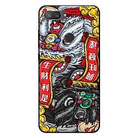 Ốp in cho Xiaomi Mi 8 Lite Lân Trắng Đen - Hàng chính hãng