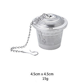 Fine Stainless Steel Tea Strainer Steeper with Chain Hook for Drinking