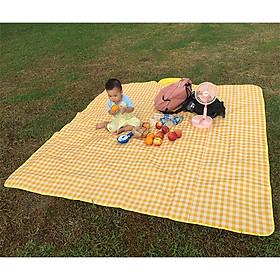 Thảm chống thấm họa tiết kẻ caro xinh xắn thích hợp cho các cuộc picnic (tặng kèm túi đựng chống thấm có thể dùng riêng)