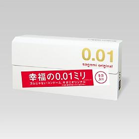 Bao Cao Su Sagami Original 0.01 - Hộp 5 Chiếc
