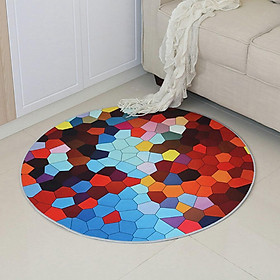 Round Carpet 3D Anti-slip Rugs Computer Chair Floor Mat for Home Kids Room