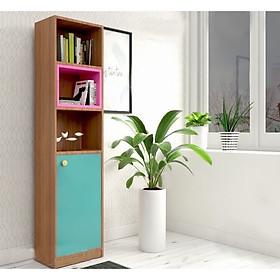 Kệ sách gỗ, tủ trang trí gỗ công nghiệp thiết kế nhỏ gọn, tiện lợi (KS-40)